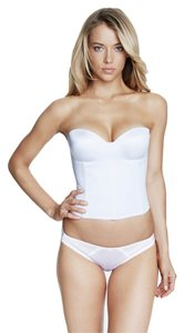 Dominique Dominique Hidden Underwire Longline Bridal Bra 8541 White Size C