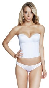 Dominique Dominique Hidden Underwire Longline Bridal Bra 8541 White Size B