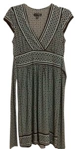 City Triangles short dress Turquoise/brown on Tradesy