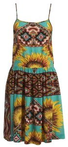 MINKPINK short dress Multi Yellow and aqua Festival on Tradesy