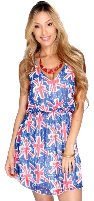 Other short dress Blue Multi on Tradesy