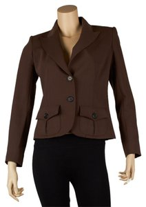 Valentino Vintage Wool Brown Blazer