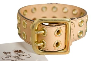 Coach Coach Grommet Buckle Bracelet #96569 - Brass / Vachetta (Natural) Leather