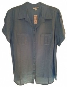 dressbarn Button Down Shirt Light Blue
