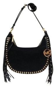 Michael Kors Suede Black Fringes Cross Body Bag
