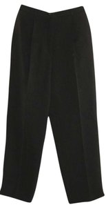 ALFANI Petite Black Slacks Petite Straight Pants Dark Gray