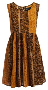 MINKPINK short dress Orange and Black animal print Festival on Tradesy