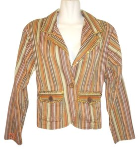 New Identity Sequined Striped Brown Jacket