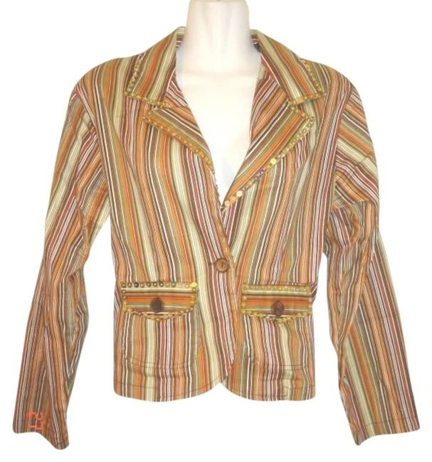 Preload https://img-static.tradesy.com/item/403907/new-identity-brown-sequined-striped-spring-jacket-size-10-m-0-0-650-650.jpg