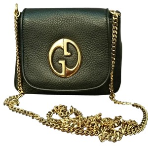 Gucci Leather Pebbled Cross Body Bag