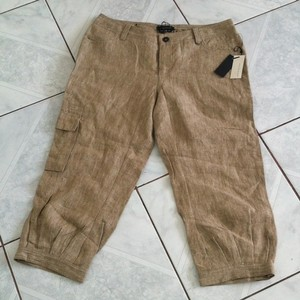 Buffalo David Bitton Linen Capris Khaki