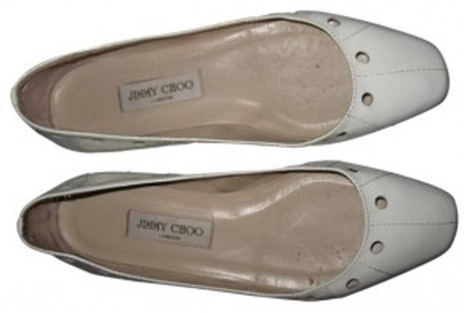 Item - White Patent Leather Ballet with Circular Cutouts Flats Size US 9 Regular (M, B)