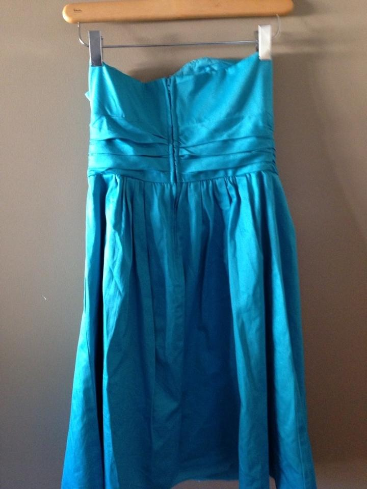 David S Bridal Malibu Teal Strapless In Bridesmaid Mob Dress Size 2 Xs 74 Off Retail