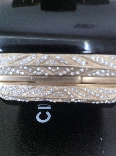 Chanel Chanel Black Resin Maltese Cross Gripoix with Crystal Pave Hinges Cuff / Bracelet