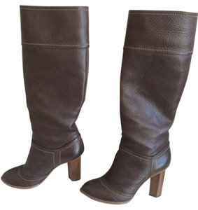 Dolce&Gabbana Designer Italian Leather Brown Boots