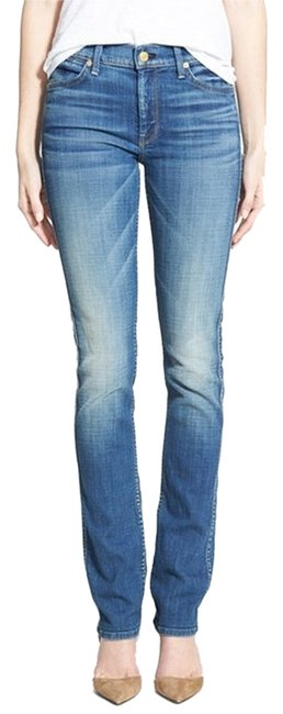 7 For All Mankind Size 32 The Modern Light Wash Straight Leg Jeans-Light Wash