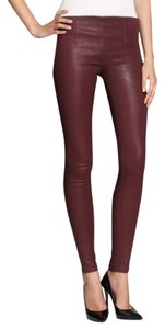 SOLD Design Lab Coated Jeans Coated Coated Leggings Jeggings Purple Purple Skinny Pants Burgundy