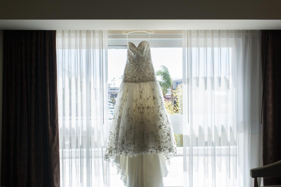 Wedding Gowns With Bling: Fit And Flare Bead Bling Bedazzled Wedding Dress