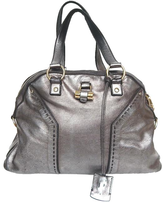 Item - Muse Ysl Silver Metallic Leather Satchel