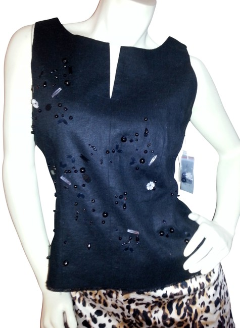 I.S.C. New W/Tags Vest Party Festive Top Black