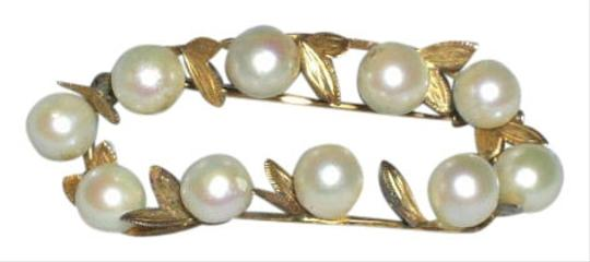 Other Antique 14k Gold Victorian Cultured Pearl Brooch Pin
