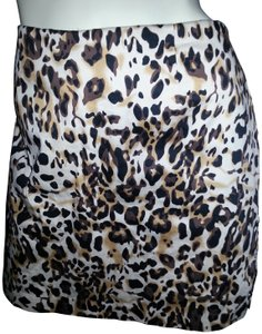 Bamboo Trading Company Cotton Comfortable Skort Animal Print