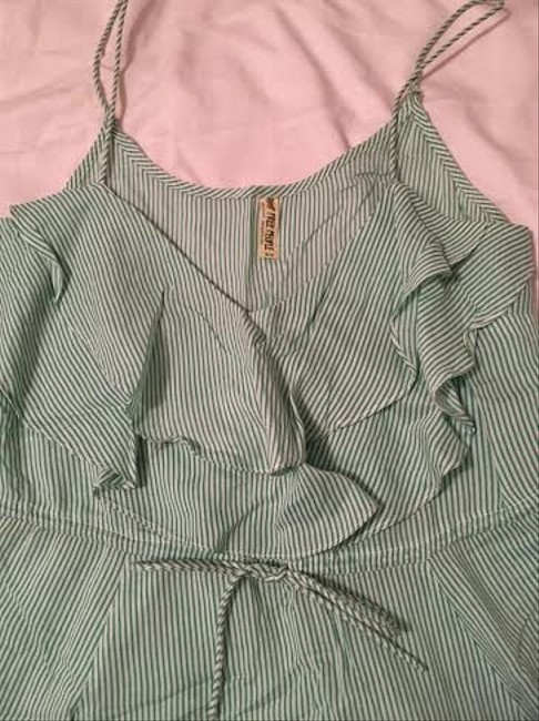 Free People short dress Green and White Stripes on Tradesy