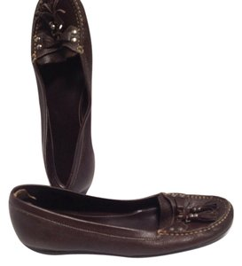 Gianni Bini Loafers Leather Brown Flats