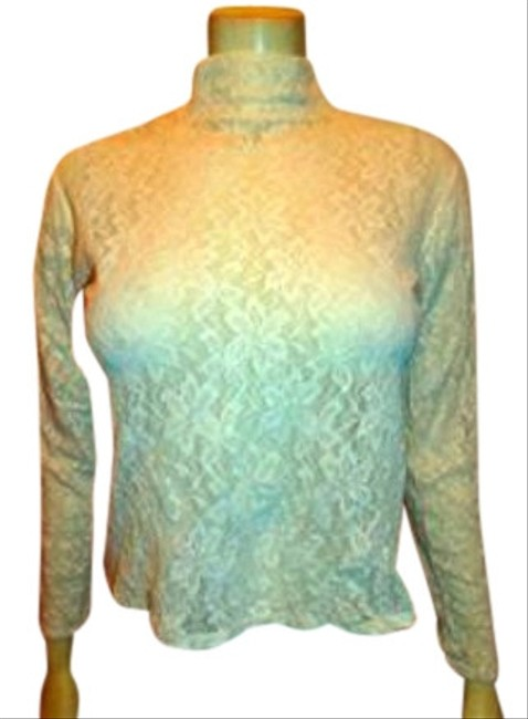 OLIVIERE SOHO Lace Small Longsleeve Summersale Top IVORY
