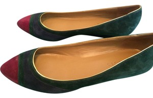 Talbots Fall Small Raspberry, Dark Green, Dark Blue, Gold Wedges