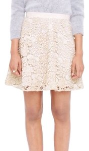 Club Monaco Mini Skirt Gold and white