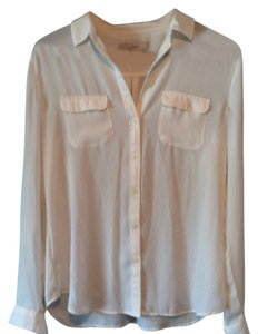 Ann Taylor LOFT Classic Top Off-White