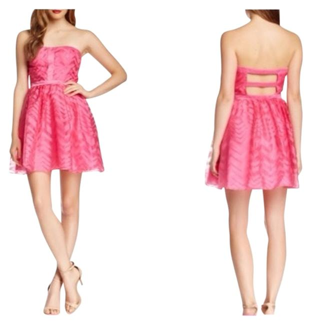 Preload https://item2.tradesy.com/images/hailey-logan-hot-pink-organza-a-line-night-out-dress-size-4-s-4043131-0-0.jpg?width=400&height=650