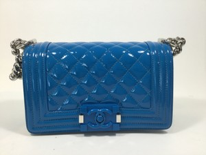 Chanel Boy Small Blue Shoulder Bag