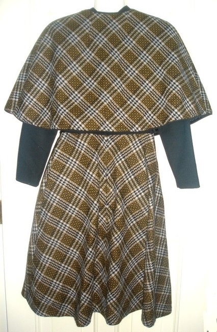 Parade New York Vintage Plaid Cape Dress