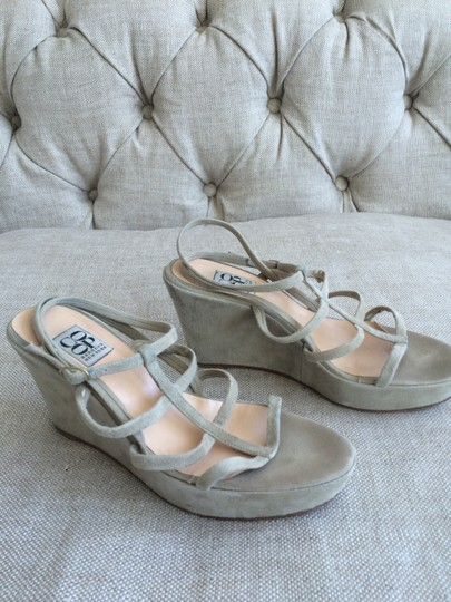 Barneys Co-Op Suede Modern Tan / Grey Wedges