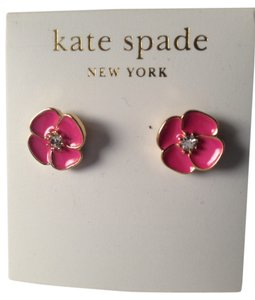 Kate Spade Bougainvillea Pink Flower Stud Earrings