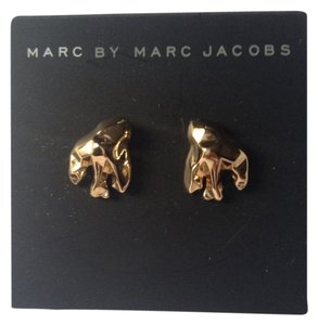 Marc by Marc Jacobs Gold Plated Stud Earrings