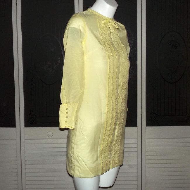 Other short dress Yellow Vintage Mini Vintage Shift Vintage Shirt Vintage Tuxedo Mod 60s Vintage Hippie Vintage Mod Pleated Vintage Go Go on Tradesy