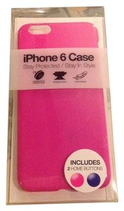 hot pink iphone 6 hard shell case with home buttons