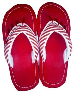 Yoga Sandals Red & white candy cane Sandals