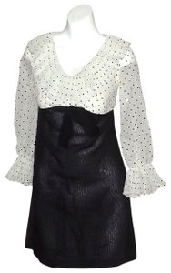 short dress Black & White Vintage Baby Doll on Tradesy