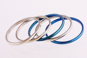 Silver/Blue Bogo Free Two Listings Mix and Match Your Choice Ring