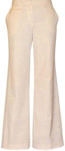 Dior Cuffed Vintage Wide Leg Pants Cream
