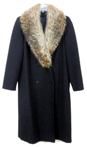 Central Park NY Fox Fur Fur 100% Wool Geunuine Fox Fur Vintage Coat
