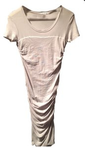 James Perse short dress Light Gray Sizes 1 James Ruched Tee on Tradesy