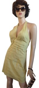 BCBGMAXAZRIA short dress Pale Yellow on Tradesy