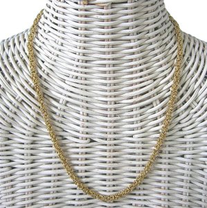 Givenchy Vintage GIVENCHY Couture Byzantine Woven Rope Chain Runway Necklace