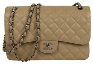 Chanel Quilted Caviar Classic Double Flap Shoulder Bag