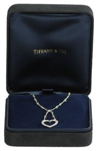 Tiffany & Co. * Tiffany & Co Diamond Heart Necklace - 18kt White Gold - 17 Inch